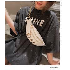 <b>2019</b> new <b>Korean personality</b> fashion chest bag <b>chain</b> wild ins super ...