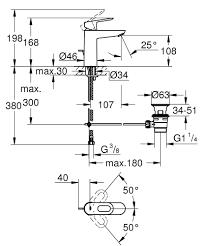 <b>Смеситель</b> для раковины стандартный <b>GROHE BauLoop 23762000</b>