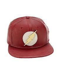 Faux <b>Leather</b> The Flash <b>Snapback Hat</b> - DC Comics