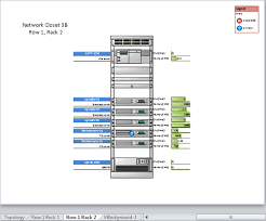 microsoft visio   starting a new diagram from a sample    visio displays page row  rack    its representation of the rack containing server filestore  s