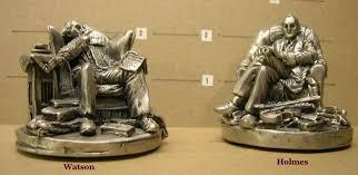 Pewter <b>Sherlock</b> Holmes & Dr. Watson Figurines | #1798739880 ...