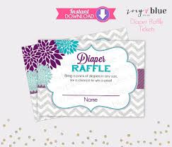 floral diaper raffle tickets purple teal chevron girl baby shower floral diaper raffle tickets purple teal chevron girl baby shower games printable diaper raffle ticket diy printable file instant