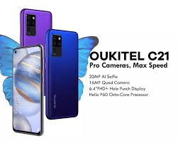 <b>Oukitel C21</b> 6.4 pouces 4GB+64GB <b>Android 10</b> 4G mbile : Ejoula