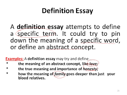 essay writing lecture  recap what is a paragraph paragraph  a definition essay attempts to define a specific term it could try to pin down
