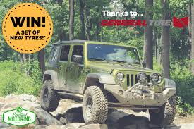 Win a set of <b>General Tire Grabber AT3</b> or X3 tyres for your 4x4 or ...