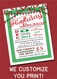 customizable holiday bazaar christmas craft show flyer printable customizable holiday bazaar christmas craft show flyer printable digital by magicpalette on