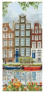 <b>Anchor Набор для вышивания</b> Улица Амстердама 32 х 14 см ...