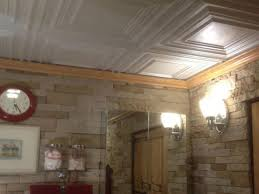 sagging tin ceiling tiles bathroom:  white bathroom ceiling