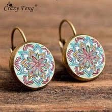 <b>Crazy Feng</b> Boho Flower Drop Earrings For Women Vintage Jewelry ...