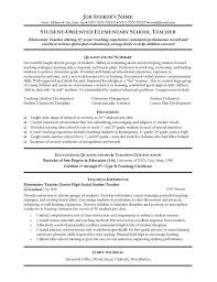 Customer Service Advisor Resume Examples S  Cover Letter Examples Elementary Education Teacher Within Special Resume and Template