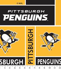 Pittsburgh Penguins Fleece Fabric 60