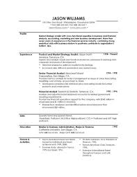 resume profile examples chronological resume examples   resumeseed comexample profile resume resume profile examples for law enforcement by jason williams