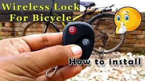 <b>Bicycle Wireless</b> Lock with <b>alarm</b> | How to install - YouTube