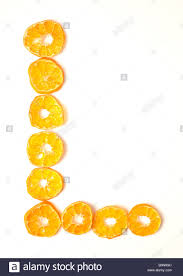 foodfont food font mandarin slices letter l white background cut stock photo foodfont food font mandarin slices letter l white background cut outs search string pbabcm