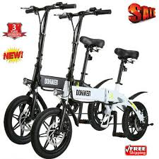 <b>DOHIKER Folding Electric Bike</b> Collapsible Bicycle w/ LED ...