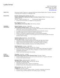 Secondary English Teacher And Art Teacher Resume Example With