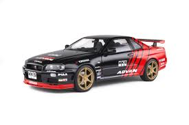 Nissan <b>Skyline</b> GT-R (R34) - Advan <b>Drift</b> Livery - 1999 - Solido
