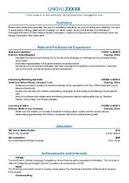 public relations and publicity cv examples   entertainment and    lingyu z    journalism cv   manchester  lancashire