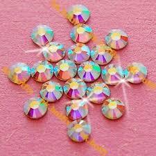Authentic Swarovski AB <b>Crystal</b> ( NO Hotfix ) Flatback Glass Nail Art ...
