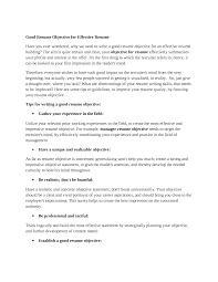 Resume Objective Statement For Customer Service  resume sample     happytom co General Objectives For Resume  general career objective resume       resume objective statement