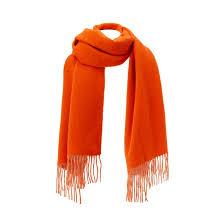 <b>Шарф</b> из шерсти мериноса оранжевый <b>La Redoute</b> Collections ...