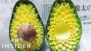 <b>Delicate</b> Patterns Carefully Carved Into <b>Fruits</b> And Vegetables ...