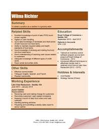 cashier resume templates     samples in wordgrocery store cashier resume