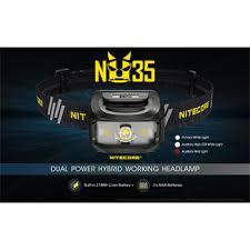 <b>Nitecore NU35 Dual Power</b> Source Rechargeable Headlamp ...