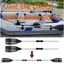 <b>1 Pair Aluminum Alloy</b> Detachable Afloat Kayak Oars Paddles Boat ...