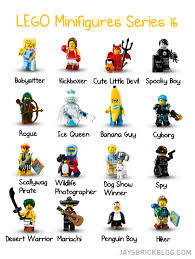 official reveal of lego series minifigures lego minifigures series 16 character s