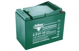 <b>Тяговый гелевый аккумулятор Rutrike</b> 6-EVF-45 - <b>RuTrike</b>