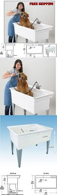dog faces ceramic bathroom accessories shabby chic: shampooing and washing  pet dog bath tub shower spa stand polypropylene sink basin utility