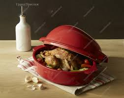 <b>Форма для запекания курицы</b> 34х24x19 см керамическая с ...