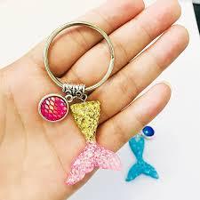 <b>Glitter Mermaid</b> Dragon Scales Fish Tail Pendant <b>Silver</b> Plated ...