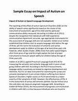 sample essay of speech revised essay