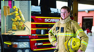 timely career change sparked melissa sunraysia daily melissa byrnes has no regrets about becoming a firefighter inset recruit keith bailey and