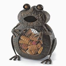 Home Decoration Material Impressive Frog Wine Cork Holder Wine Cork Catcher Wrought Iron