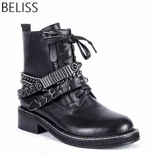 <b>BELISS</b> Ankle Women Boot <b>Spring Autumn</b> Warm fur Leather boots ...