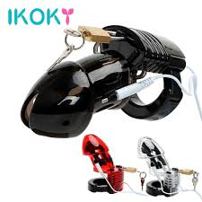 IKOKY <b>Electric Shock</b> Penis Cock Cage <b>Male Chastity</b> Device Adult ...