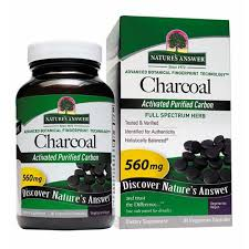 Natures Answer <b>Charcoal Activated Purified Carbon</b> Vegetarian ...