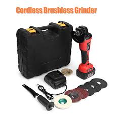 <b>21V Cordless Brushless</b> Grinder Rechargable Li-ion Battery 100mm ...