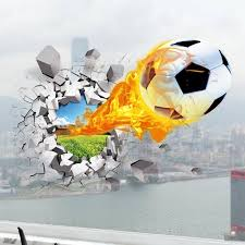 creative 3d wall stickers hot sale soccer ball football vinyl wall decal stickers for kids sport boy rooms bedroom art wall deco bedroom furniture sticker style