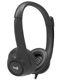 <b>Наушники Logitech Wired USB</b> Headset with Microphone Black 991 ...