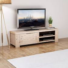 <b>TV Cabinet Solid Brushed</b> Acacia Wood 140x38x40 cm Sale, Price ...