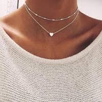 Wholesale <b>Double Layer Chain Necklace</b> Heart Pendant - Buy ...