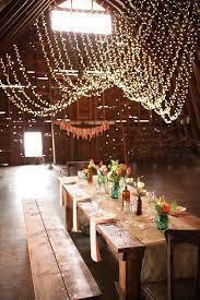 hanging string bistro lights rustic wedding backyard wedding lighting