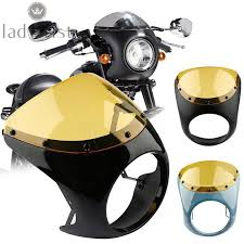 <b>7inch Motorcycle Headlight Handlebar</b> Fairing Windshield For ...