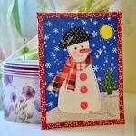 Панно снеговик