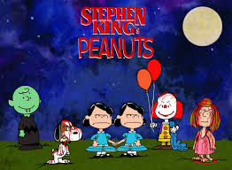 what pennywise looks like in the new remake of stephen king s it illustrator hal hefner created this great double homage to charles schulz and stephen king it does seem as if he missed an opportunity to put marci in a