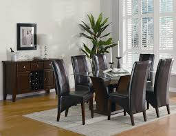 dining room tables chairs square: glass top dining room sets for your house glass top cherry finish